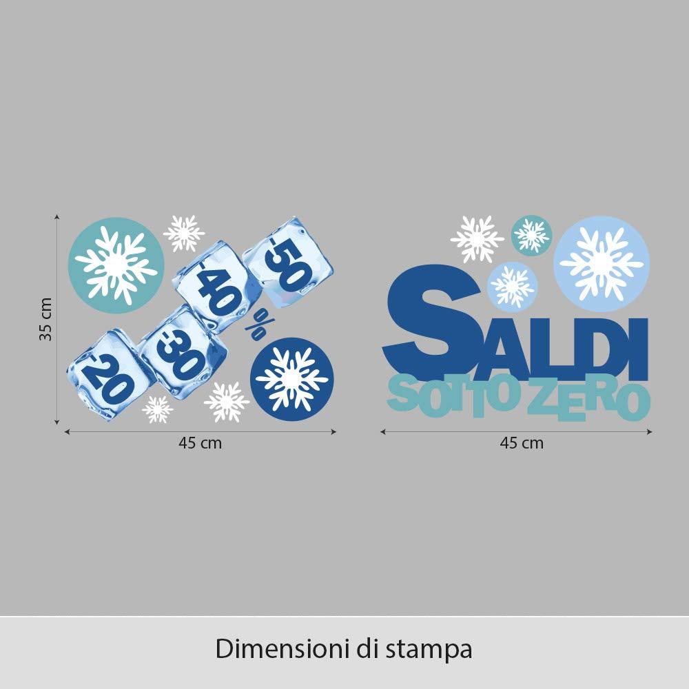 kina UVSD0130 Vetrofania Invernali su PVC Trasparente Decorazioni adesive per vetrine di Negozi Misure 2 Fogli 45x35 cm