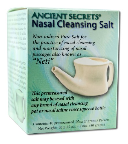 Nasal Cleansing Salt Packets 40 PKT (pack of 3) by Ancient Secrets