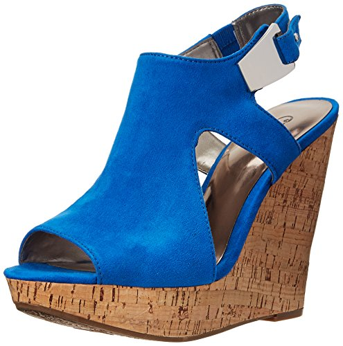 Malor Carlos Santana Women's Wedge Sandal Blue by Carlos qq6UwTp