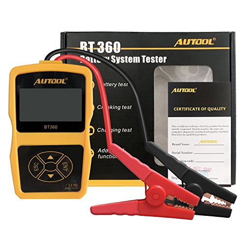 AUTOOL Auto Battery System Tester CCA 100-2400 Bad Cell Test for Regular Flooded, Auto Cranking and Charging System Diagnostic Analyzer for Domestic Cars, Boats by AUTOOL (Image #1)