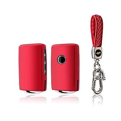 BOYUER Keyless Remote Control Smart Car Key Fob Cover Soft TPU Key Fob Case Key Chain For Mazda MAZDA3 2020 2020 CX-30 2020 2020 CX-5 2020 CX-8 2020 (RED): Automotive