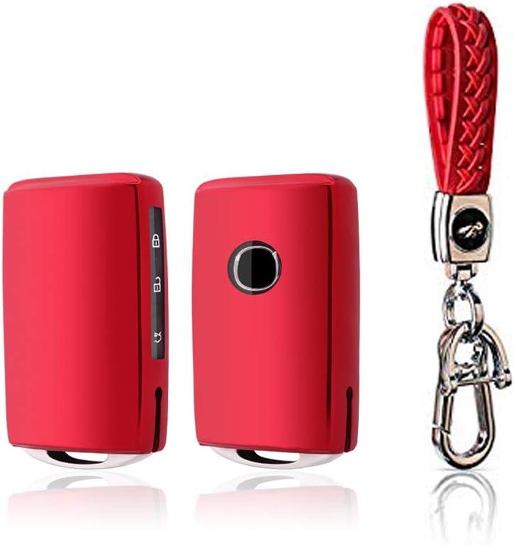 RED BOYUER Keyless Remote Control Smart Car Key Fob Cover Soft TPU Key Fob Case Key Chain For Mazda MAZDA3 2019 2020 CX-30 2019 2020 CX-5 2020 CX-8 2020