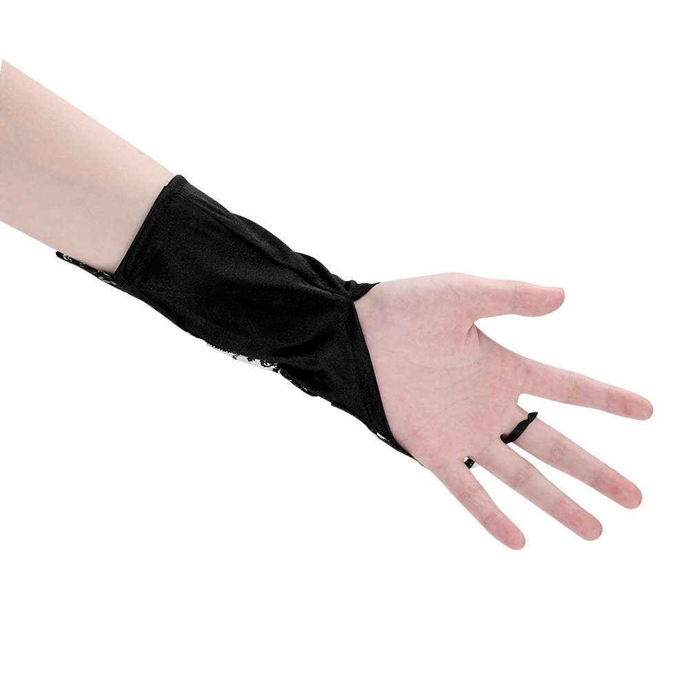 Amazon.com: Guantes largos sin dedos para mujer, guantes de ...