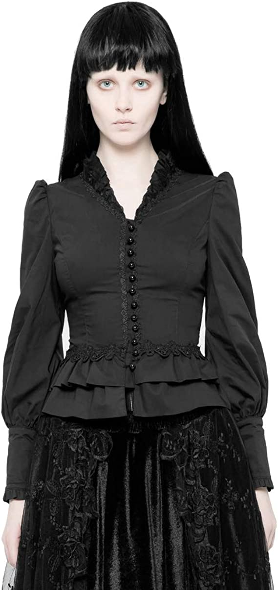 Camisa de Manga Larga gótica para Mujer: Amazon.es: Ropa y accesorios