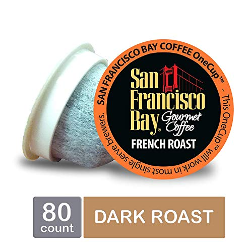 (San Francisco Bay OneCup, French Roast, Single Serve Coffee K-Cup Pods (80 Count) Keurig Compatible)