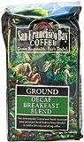 San Francisco Bay Coffee Ground, Decaf Breakfast Blend, 12 Ounce