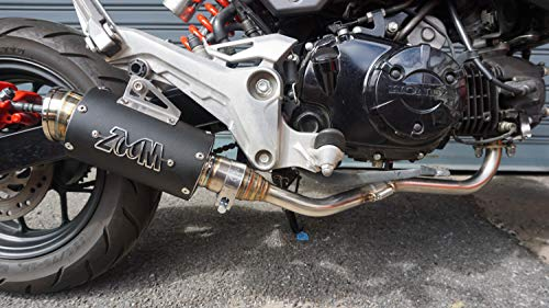 125 Exhaust - ZoOM Exhaust Honda MSX 125 GROM 125SF 2013-2019 Full System Low Mount Black 2SLZ