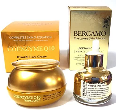 [Bergamo] Moselle Coenzyme Q10 Cream 50g & Luxury Skin Science Premium Gold Wrinkle Care Ampoule 30ml / Wrinkle Care,Elasticity,Moisture/Korean Cosmetics