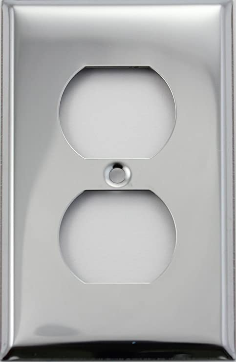 Stainless Steel Single 1 Gang Wall Plate 1 Duplex Outlet Amazon Com