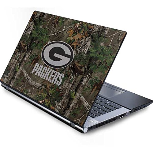 Skinit NFL Green Bay Packers Generic 13in (12.803in w X 8.996in h) Laptop Skin - Green Bay Packers Realtree Xtra Green Camo Design - Ultra Thin, Lightweight Vinyl Decal Protection (Bay Generic Green Packers Laptop)