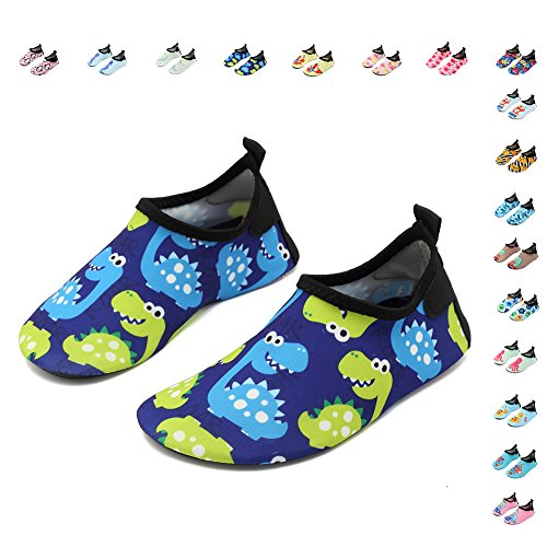 CIOR Fantiny Kids Water Shoes Boys Girls Swim Shoes Quick-Dry Barefoot Aqua Shoes Socks for Beach Pool Surfing Yoga – DiZiSports Store