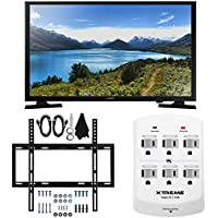 Samsung UN32J4000 - 32-Inch LED HDTV J4000 Series Slim Flat Wall Mount Bundle includes UN32J4000 32-Inch HDTV, Slim Flat Wall Mount Bundle and 6 Outlet Wall Tap w/ 2 USB Ports