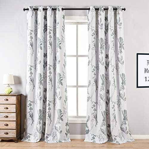 Blackout Curtains for Bedroom, 2PCS Cosics52 Inch Wide Thermal Insulated Window Treatment 95 Inch, Elegant White Grommet Curtain Panels Drapes for Home Decor