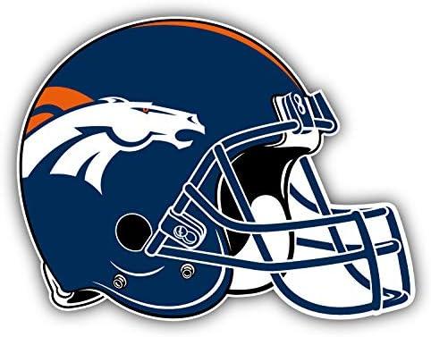 Denver Helmet Logo Decal 5 X 4 Broncos Football