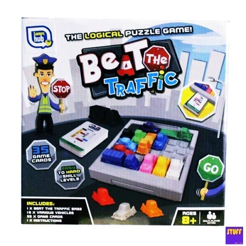 Stuff and Nonsense Beat The Traffic Rush Hour Traffic Jam Gridlock Logic Puzzle Game Family Fun Toy for Ages 8+