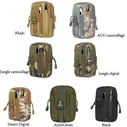 De los hombres bolsas de viaje Hombre Messenger bolsas multifunción bolsa de nailon resistente al agua Material, camouflage ACU Camouflage