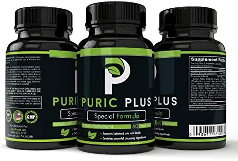 Puric Plus - Uric Acid Support for Kidney and Liver Health, Premium Ingredients Include Tart Cherry, Turmeric Root, Green Coffee Extract, Cranberry, Milk Thistle, Amla