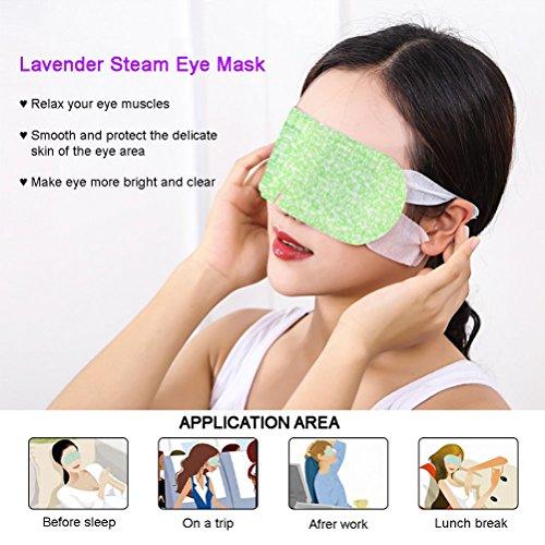 BestFire Hot Steam Eye Mask Warm Eye Patch Steam Eye SPA Mask Relieve Eye Tiredness Remove Eye Dark Circles,Lavender Fragrance- 2 Packs(10 Pcs) by BestFire® (Image #4)
