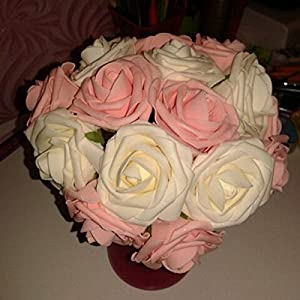 10Pcs Artificial Rose Flowers Head Party Wedding Bridal Bouquet Home Decoration Black 3