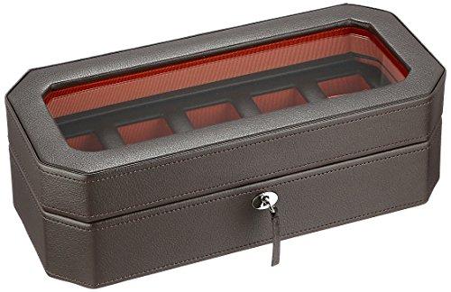 WOLF 458306 Windsor 5 Piece Watch Box, Brown]()