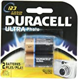 Duracell Ultra Photo 123 3v Batteries 2 Count
