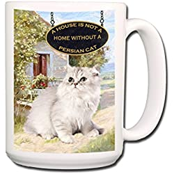Persian Cat a House is Not a Home Coffee Tea Mug 15 oz No 1