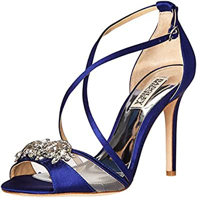 Badgley Mischka Women's Gala Dress Sandal, Indigo, 5 M US