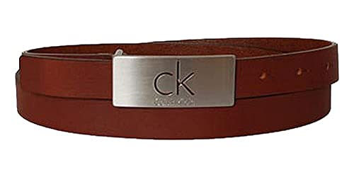 CALVIN KLEIN Damengürtel leather brown /80cm