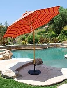 9 ft Rotational Tilt Wood Patio / Market Umbrella ,Sunbrella Fabric by Galtech