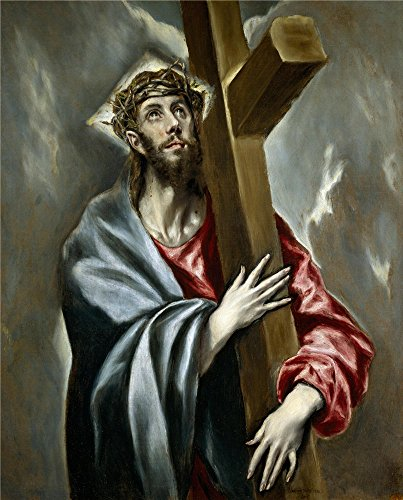 Oil Painting 'El Greco Christ Clasping The Cross Ca. 1602', 8 x 10 inch / 20 x 25 cm , on High Definition HD canvas prints is for Gifts And Bar, Dining Room And Kids Room Decoration, fine Jungle Book Movie Cast