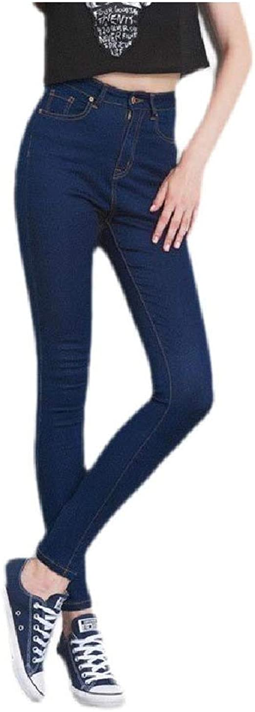 AngelSpace Women's Wash Stretch High Waist Plus Size Pocket Ombre Comfy Jeans Pant