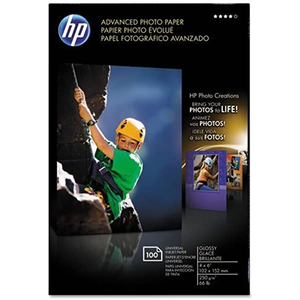100 Sheets//Pack 4 x 6 Glossy 56 lbs. Advanced Photo Paper
