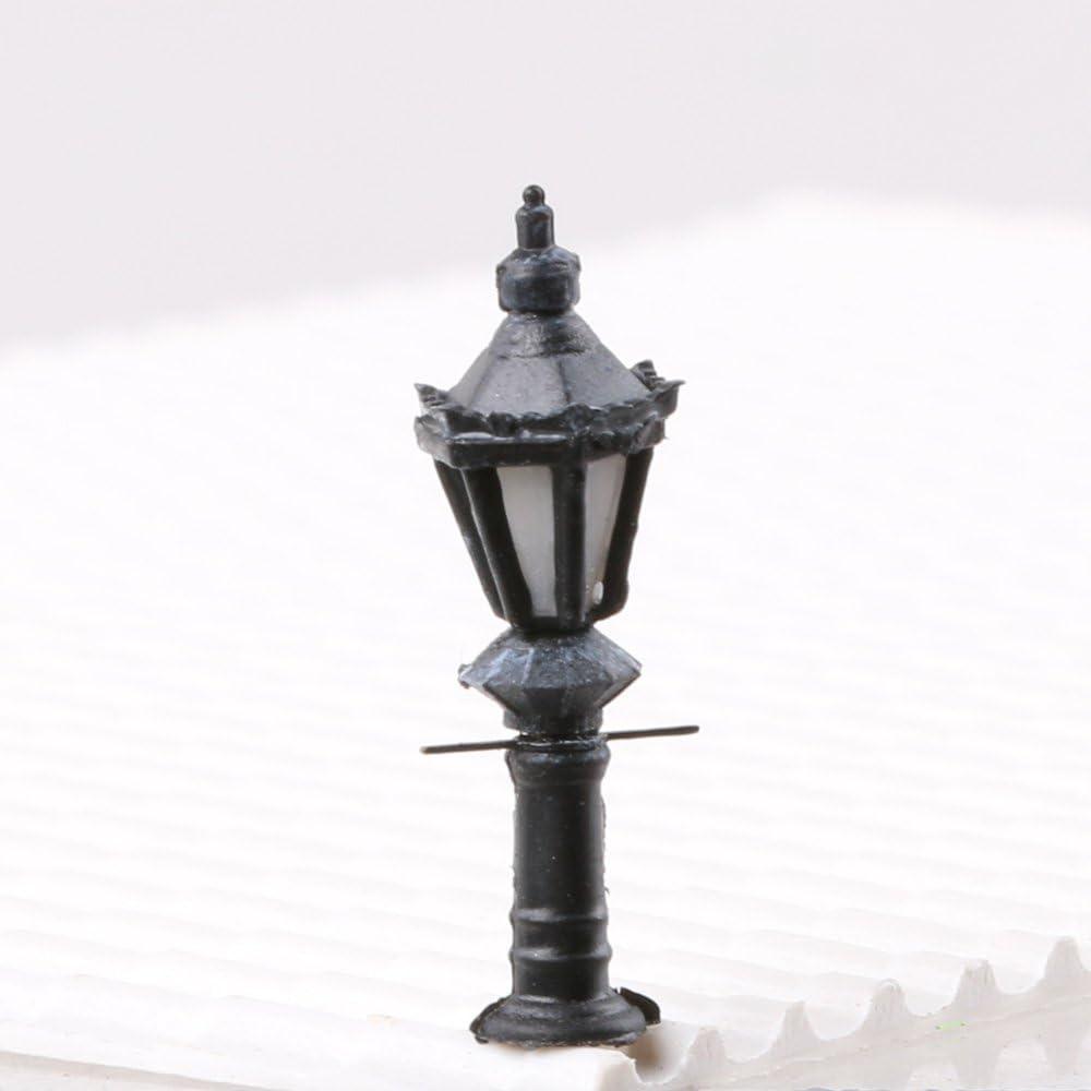 1:25 LYWS 10pcs LED Courtyard Lamp Street Lamp Model Railway Model Trains Warm White