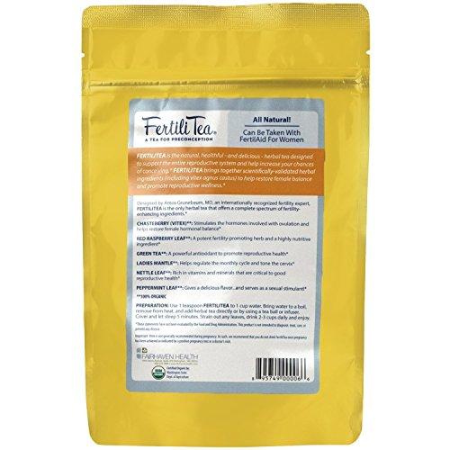 Fertility Supplement Bundle for Women - 1 Month Supply of Fertilaid, FertileCM, Fertilitea, Wondfo Ovulation Tests and Pregnancy Tests by Baby Hopes (Image #1)