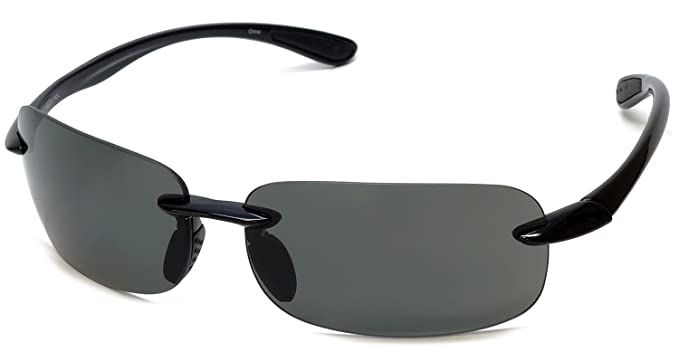 1d1e55c56e2 Grand Banks 470BF Polarized Bi-Focal Rimless Reading Sunglasses in Black  +1.50