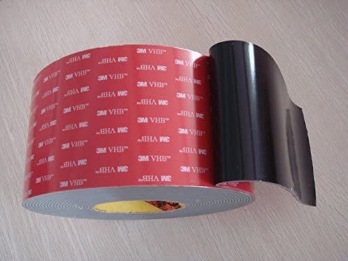 """3m 2"""" (50mm) X 6 Ft VHB Double Sided Foam Adhesive Tape 5952 Grey Automotive Mounting Very High Bond Strong Industrial Grade"""