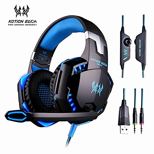 KOTION EACH Stereo Over Ear Pro Gaming Headset with with ...