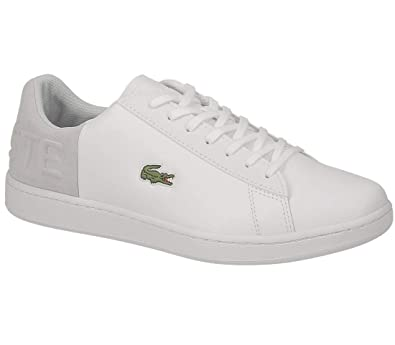 4a1529ccfe703d Lacoste Carnaby EVO 318 2 QSP Trainers in White   Light Grey 736SPM0044 14X   UK 6 EU 39.5   Amazon.co.uk  Shoes   Bags