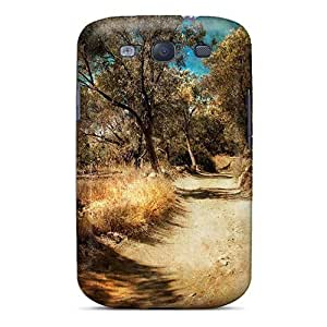 Ultra Slim Fit Hard Phone Case Case Cover Specially Made For Galaxy S3- Country Road Hdr