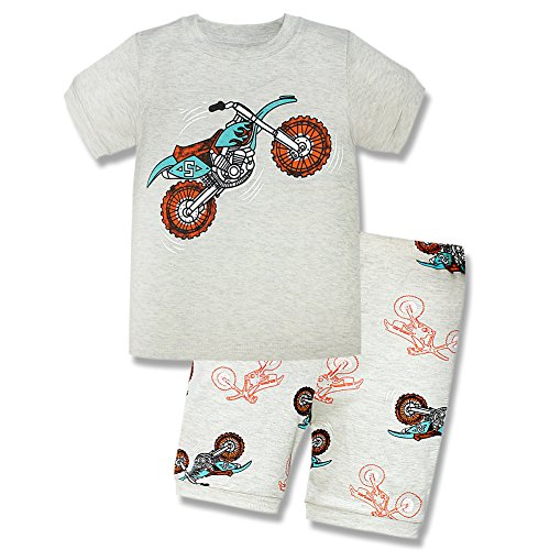Finding Nemo Costume Pattern (Toddler Short Sleeve Pajamas, Little Boys Motobike Pjs Sets 2-7 Years Sleepwear)