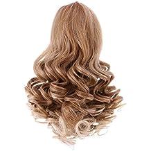 Jili Online DIY Wavy Curly Hair Wig Heat Safe for 18 inch American Girl Dolls DIY Making - #1, 22cm