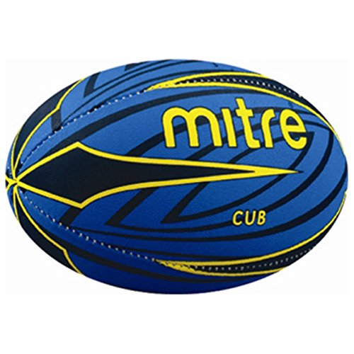 mitre B7101 Cub Mini Rugby Ball Size 3 Blue/Yellow Pack of 2