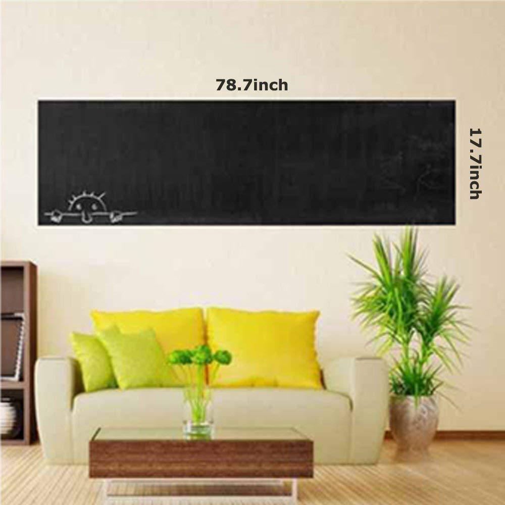 Hcbyae Chalkboard Wall Sticker, Vinyl Removable Self Adhesive ...