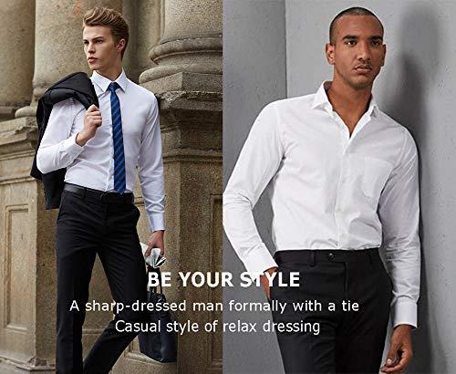 diig Men Dress Shirt White 14.5 by diig (Image #5)