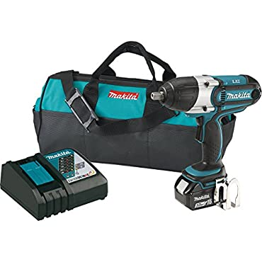 Makita XWT041X 3.0Ah 18V LXT Lithium-Ion Cordless 1/2 Square Drive Impact Wrench Kit