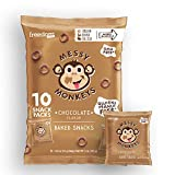 Messy Monkeys Chocolate Flavored Whole Grain Bites - 10 Individual 0.5oz Single Serving Bags