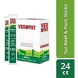 Vermont Smoke & Cure Beef & Pork Sticks, Antibiotic Free, Gluten Free, Cracked Pepper, 1oz Stick, 24 Count