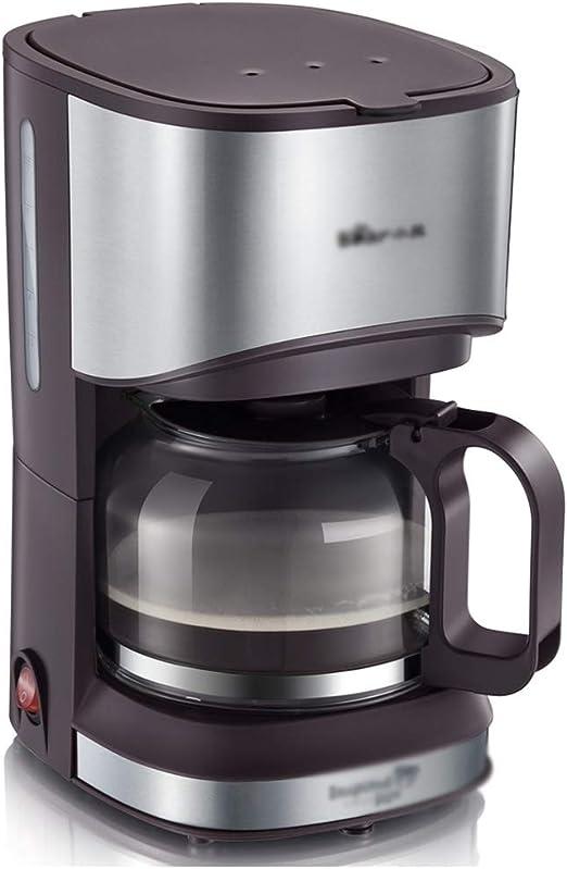 Cafetera Filtro Oficina Mini Tetera, Tipo Goteo (Color : Brown, Size : 20.5 * 14.6 * 25.3cm): Amazon.es: Hogar