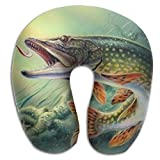 Fishing Lure Support Neck Pillow Spa Memory Foam U-SHAPE Travel Women