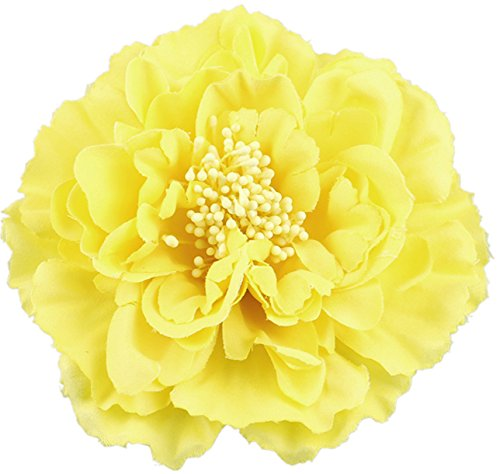 Hair Flower Clips Brooch Boutique Hair Accessories Bohemia Hairpins for Women Girls (Yellow)